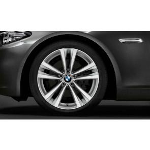 BMW Alufelge Doppelspeiche 610 bicolor (silber / glanzgedreht) 8,5J x 19 ET 33 Vorderachse / Hinterachse BMW 5er F10 F11