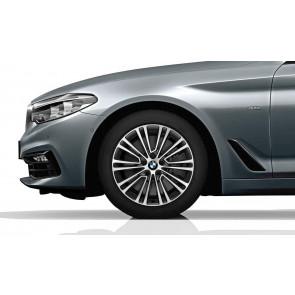 BMW Kompletträder Doppelspeiche 634 bicolor (orbitgrey / glanzgedreht) 18 Zoll 5er G30 G31 RDCi