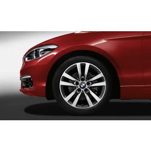 BMW Alufelge Doppelspeiche 655 ferricgrey 7,5J x 17 ET 43 Vorderachse / Hinterachse 1er F20 F21 2er F22 F23