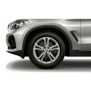 BMW Kompletträder Doppelspeiche 688 silber 18 Zoll X3 G01 X4 G02 RDCi