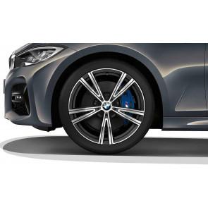 BMW Kompletträder Doppelspeiche 793i bicolor (orbitgrey matt / glanzgedreht) 19 Zoll 3er G20 G21 G28 RDC (Mischbereifung)