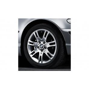 BMW Alufelge M Doppelspeiche 97 silber 7,5J x 17 ET 47 Vorderachse 3er E46