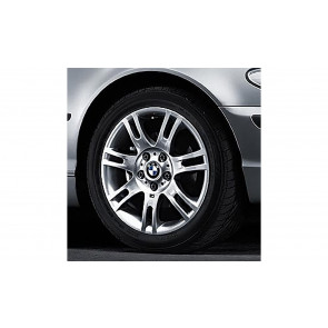 BMW Alufelge M Doppelspeiche 97 silber 8,5J x 17 ET 50 Hinterachse 3er E46