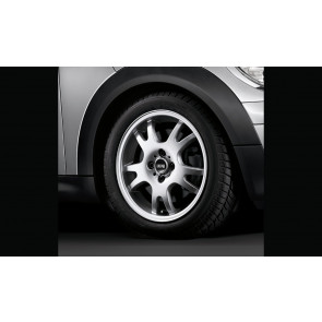 MINI Alufelge Double Spoke 87 5,5J x 16 ET 45 Silber Vorderachse / Hinterachse MINI R50 R52 R53 R55 R56 R57 R58 R59
