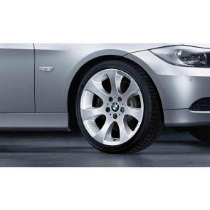 BMW Alufelge Ellipsoidspeiche 162 8,5J x 18 ET 37 Silber Hinterachse BMW 3er E90 E91 E92 E93