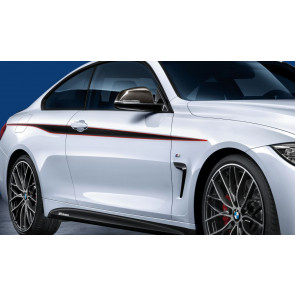 BMW M Performance Akzentstreifen schwarz/rot 2er F22