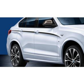 BMW M Performance Akzentstreifen schwarz/silber X4 F26