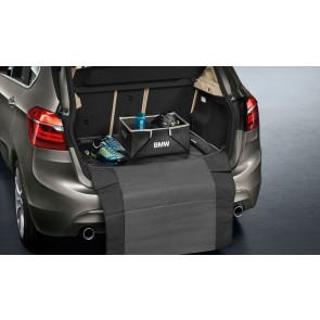 BMW Gepäckraumformmatte Modern schwarz mit beigem Rand 2er F45 ActiveTourer ohne verschiebbarer Rückbank
