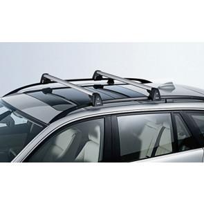 BMW Grundträger, abschließbar 3er E46 mit Dachreling