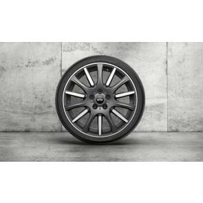 MINI Kompletträder High Spoke 596 bicolor (orbitgrey / glanzgedreht) 18 Zoll F55 F56 F57 RDCi