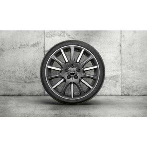 MINI Alufelge High Spoke 596 bicolor (orbitgrey / glanzgedreht) 7J x 18 ET 54 Vorderachse / Hinterachse F55 F56 F57