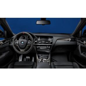 BMW M Performance Interieurleisten Carbon mit Chrom-Zierblende X3 F25 X4 F26