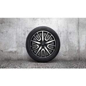 MINI Kompletträder JCW Black Thrill Spoke 529 bicolor (schwarz / glanzgedreht) 18 Zoll F60 RDCi