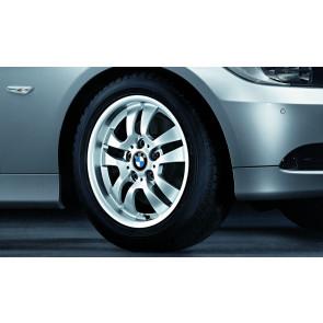 BMW Winterkompletträder Doppelspeiche 154 silber 16 Zoll 3er E90 E91 E92 E93