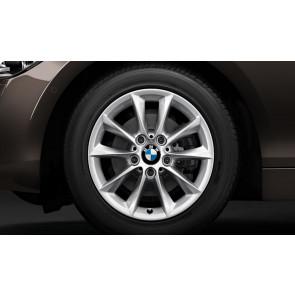 BMW Winterkompletträder V-Speiche 411 reflexsilber 16 Zoll 1er F20 F21 2er F22 F23 RDCi