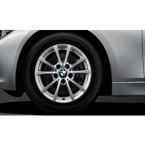BMW Alufelge V-Speiche 390 silber 7J x 16 ET 31 Vorderachse / Hinterachse 3er F30 F31 4er F36