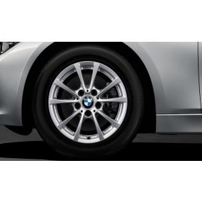 BMW Winterkompletträder V-Speiche 390 silber 16 Zoll 3er F30 F31 4er F36 (418d) RDCi