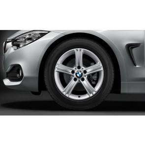 BMW Winterkompletträder Sternspeiche 393 reflexsilber 17 Zoll 3er F30 F31 4er F32 F33 F36 RDCi