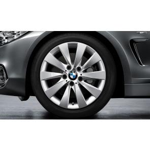 BMW Winterkompletträder V-Speiche 413 reflexsilber 17 Zoll 3er F30 F31 4er F32 F33 F36 RDCi