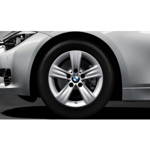 BMW Alufelge Sternspeiche 391 silber 7,5J x 16 ET 37 Vorderachse / Hinterachse 3er F30 F31 4er F32 F36