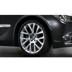 BMW Kompletträder Doppelspeiche 238 silber 19 Zoll 5er F07 7er F01 F02 F04 RDC LC