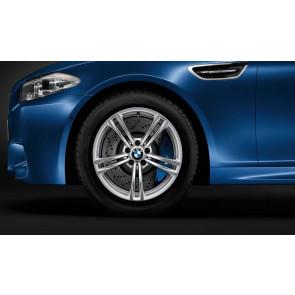BMW Winterkompletträder M Doppelspeiche 408 silber 19 Zoll M5 F10 M6 F06 F12 F13 RDC LC (ab Baujahr 03/2014)