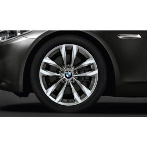 BMW Alufelge Doppelspeiche 609 silber 8J x 18 ET 30 Vorderachse / Hinterachse BMW 5er F10 F11 LCI