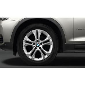 BMW Winterkompletträder Doppelspeiche 605 reflexsilber 18 Zoll X3 F25 X4 F26 RDC LC