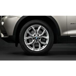 BMW Kompletträder Y-Speiche 308 silber 18 Zoll X3 F25 X4 F26