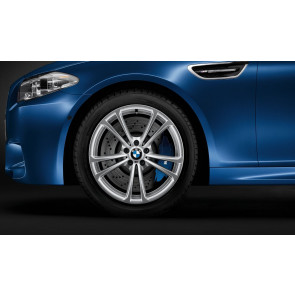 BMW Alufelge M Doppelspeiche 409 silber 9J x 20 ET 25 Hinterachse M5 F10 M6 F06 F12 F13