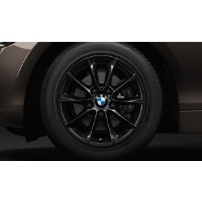 BMW Alufelge V-Speiche 411 schwarz 7J x 16 ET 40 Vorderachse / Hinterachse 1er F20 F21 2er F22 F23