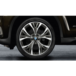 BMW Alufelge Y-Speiche 627 bicolor (ceriumgrau / glanzgedreht) 10 J x 21 ET 40 Vorderachse X5 F15 X6 F16