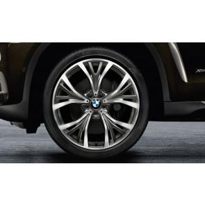 BMW Alufelge Y-Speiche 627 bicolor (ceriumgrau / glanzgedreht) 11,5 J x 21 ET 38 Hinterachse X5 F15 X6 F16