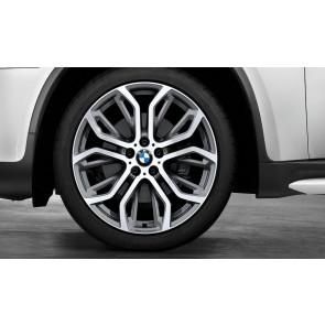 BMW Alufelge Performance Y-Speiche 375 bicolor (ferricgrey / glanzgedreht) 10J x 21 ET 40 Vorderachse BMW X5 E70 F15 X6 E71 E72 F16