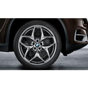 BMW Kompletträder Doppelspeiche 215 ferricgrey 21 Zoll X5M E70 X6 E71 (inkl. X6 M)
