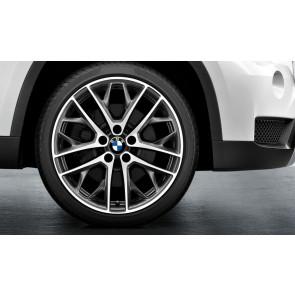 BMW Kompletträder Doppelspeiche 465 bicolor (ferricgrey / glanzgedreht) 19 Zoll X1 E84 RDC LC