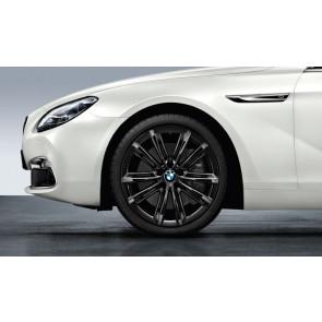 BMW Alufelge M V-Speiche 464 liquid black 9J x 20 ET 44 Hinterachse BMW 5er F10 F11 6er F06 F12 F13