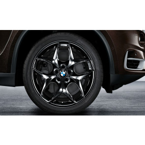 BMW Kompletträder Doppelspeiche 215 schwarz 21 Zoll X5M E70 X6 E71 (inkl. X6 M)