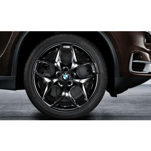 BMW Alufelge Doppelspeiche 215 schwarz glänzend 11,5J x 21 ET 38 Hinterachse BMW X5 E70 F15 X6 F16