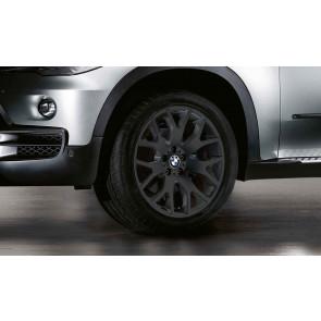 BMW Kompletträder Kreuzspeiche 177 schwarz matt 20 Zoll X5 E70 F15 X6 F16