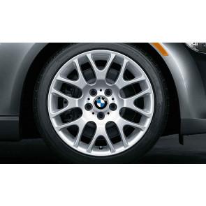 BMW Alufelge Kreuzspeiche 197 8J x 18 ET 34 silber Vorderachse 3er E90 E91 E92 E93