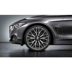 BMW Alufelge Kreuzspeiche 404 bicolor (schwarz / glanzgedreht) 8J x 20 ET 36 Vorderachse 3er F30 F31 4er F32 F33 F36