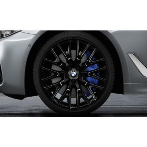 BMW Kompletträder Kreuzspeiche 636 schwarz 20 Zoll 5er G30 G31