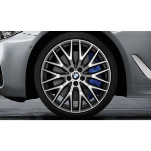 BMW Kompletträder Kreuzspeiche 636 bicolor (orbitgrey / glanzgedreht) 20 Zoll 5er G30 G31 RDCi