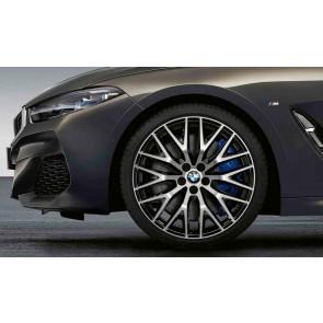 BMW Alufelge Kreuzspeiche 636 bicolor (schwarz / glanzgedreht) 9J x 20 ET 41 Hinterachse 8er G14 G15 G16