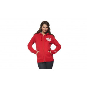 Ladies Hoodie Sweat Jacket, slim fit