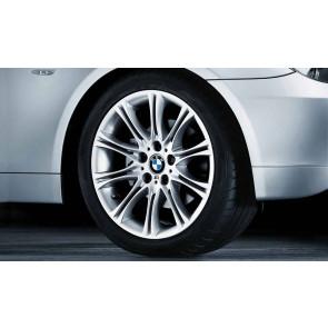 BMW Alufelge M Doppelspeiche 135 8J x 18 ET 20 Reflexsilber Vorderachse / Hinterachse BMW 5er E60 E61