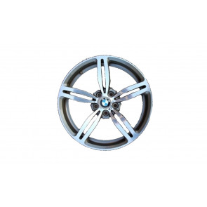 BMW Alufelge M Doppelspeiche 167 8,5J x 19 ET 12 Silber Vorderachse BMW 5er E60 E61 6er E63 E64