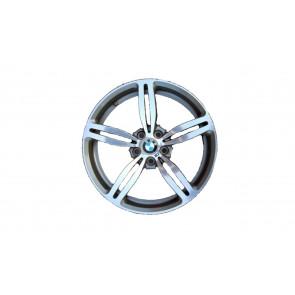 BMW Alufelge M Doppelspeiche 167 9,5J x 19 ET 28 Silber Hinterachse BMW 5er E60
