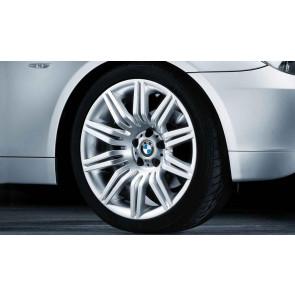 BMW Alufelge M Doppelspeiche 172 8,5J x 19 ET 18 Silber Vorderachse BMW 5er E60 E61
